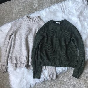 Duo knit sweaters